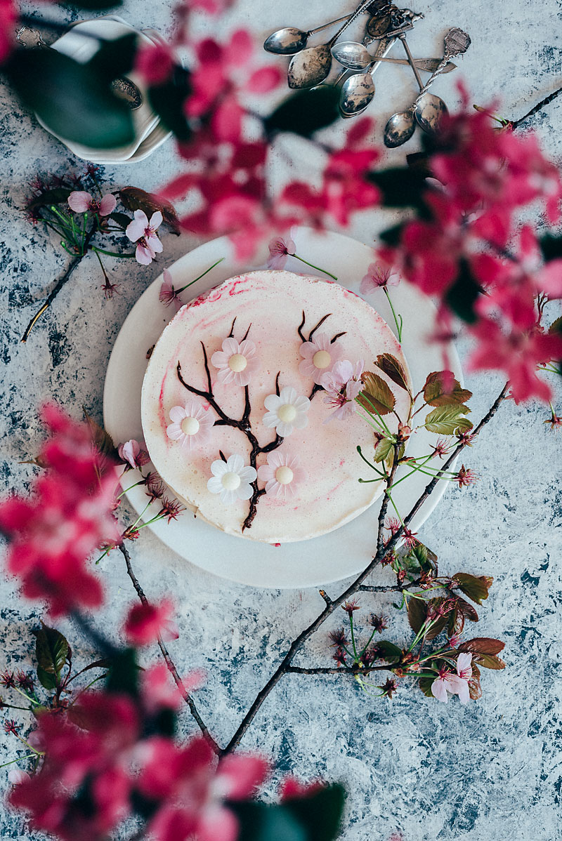 Japanese Cherry Blossom Cake