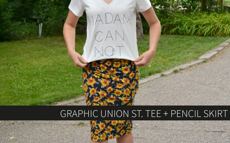 Graphic Union St. Tee + Pencil Skirt
