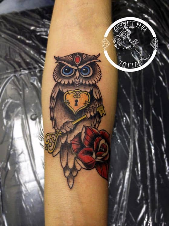tattoos con diseño de buho (10)