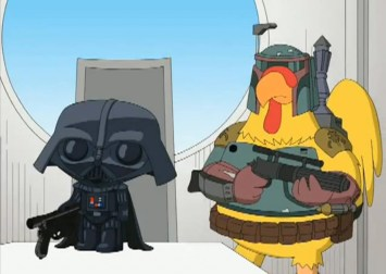 Stewie Vader Chicken Bob Fett 1024x726 846x600 Review: Family Guy Something Something Something Dark Side