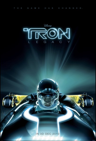 Tron 2 edit 407x600 A Poster, an Image the Synopsis & Release Date for Tron Legacy