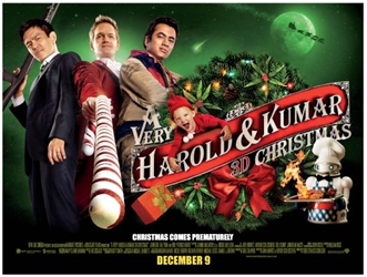 A Very Harold & Kumar 3D Christmas UK Poster