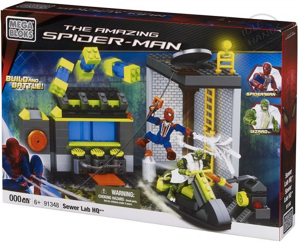amazing spider man toy mega blocks sewer lab hq 600x485 Searching for Spoilers with Mega Bloks Release of The Amazing Spider Man Toys