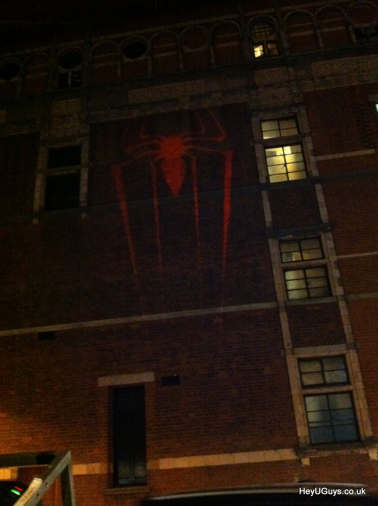 UPDATED: Viral Projection Hits London for The Amazing Spider Man   Takes You to Booking Website!