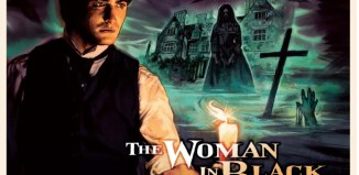 the woman in black vintage poster