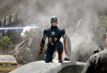 Captain America The Avengers 220x150 New Clip from The Avengers   Captain America and Thor Take it to the Streets