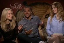 the cabin in the Woods cast interview 220x150 Exclusive Interview with Kristen Connolly, Jesse Williams and Anna Hutchison for The Cabin in the Woods