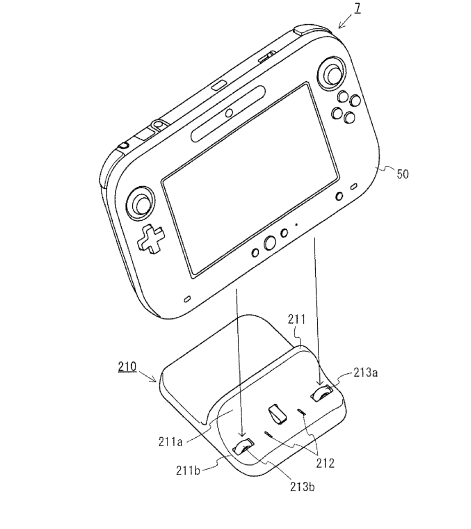 Wii U Controller Dock Nintendo Patents Wii U Tablet Cradle