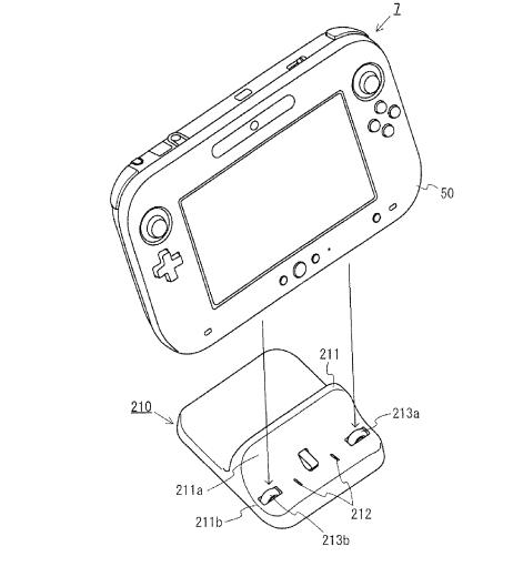 Wii U Controller Dock Nintendo Patents Wii U Tablet Cradle