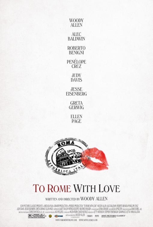 to rome with love First, Fairly Boring, US Poster For Woody Allens To Rome With Love