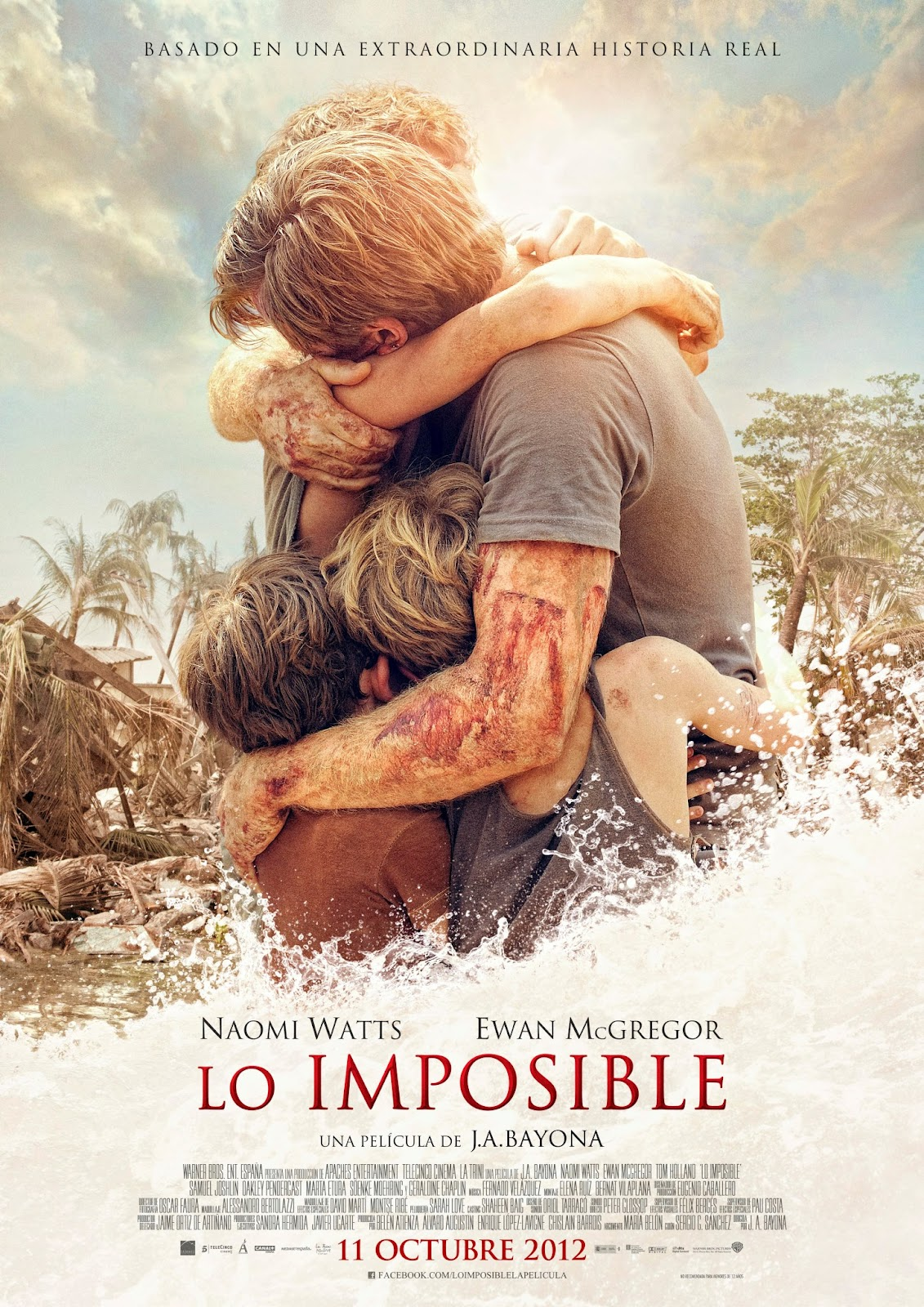 New International Poster & Image for The Impossible with Ewan McGregor & Naomi Watts