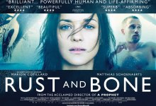 Rust and Bone UK Poster 220x150 US Trailer for Jacques Audiard's Rust and Bone with Marion Cotillard & Matthias Schoenaerts