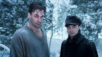 Jon Hamm and Daniel Radcliffe in A Young Doctor's Notebook