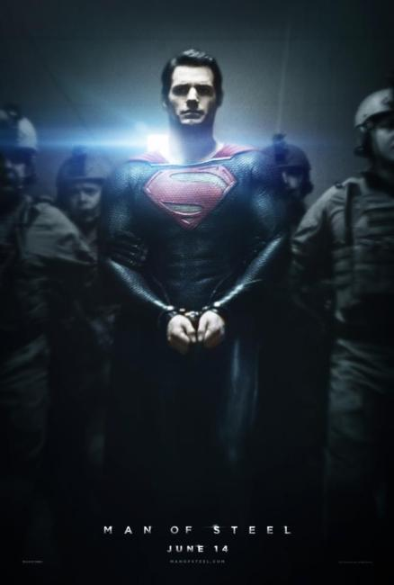 Man of Steel Poster 438x650 New Poster for Zack Snyder's Man of Steel – Superman in Chains