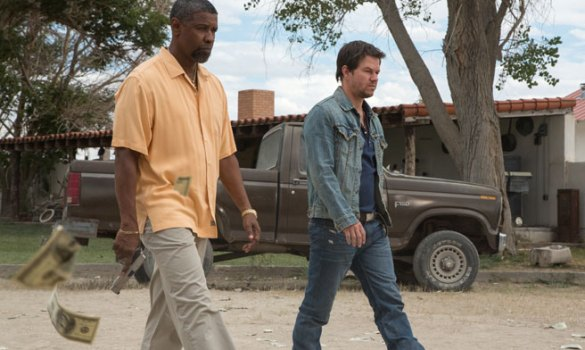 Denzel Washington and Mark Wahlberg in 2 Guns 585x350 The HeyUGuys Instant Watching Guide   December 9th 2013