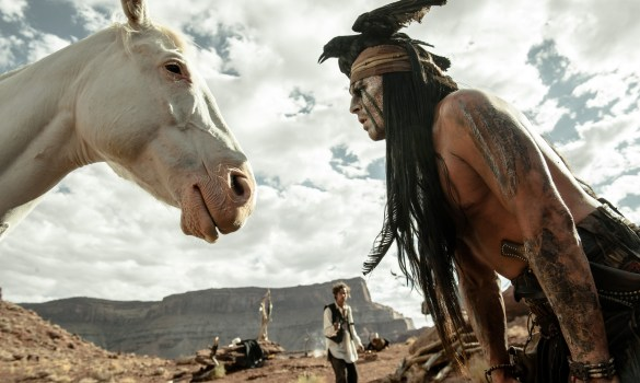 Johnny Depp in The Lone Ranger 585x350 The HeyUGuys Instant Watching Guide   December 9th 2013