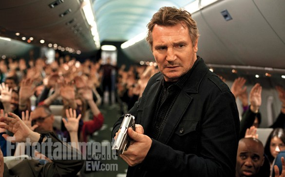 Liam Neeson in Non Stop 585x363 First Look Image: Liam Neeson in Non Stop