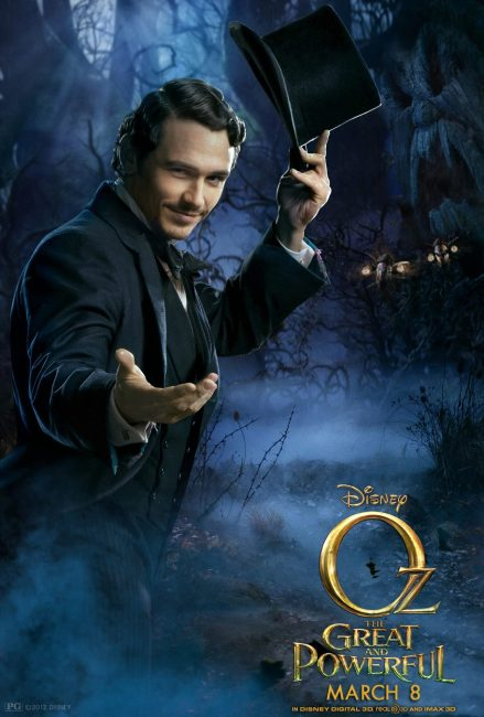 Oz the Great and Powerful Character Poster James Franco1 439x650 New 60 Second TV Spot & Poster for Oz the Great and Powerful – 'Oz and the Witches'