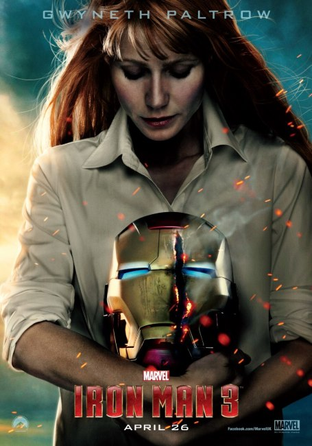 Iron Man 3 Character Poster Gwyneth Paltrow is Pepper Potts 455x650 New Character Poster for Gwyneth Paltrow's Pepper Potts in Iron Man 3