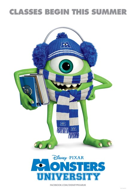 Monsters University Poster 455x650 Mike Wazowski graces the New Poster for Monsters University – 'Classes Begin This Summer'