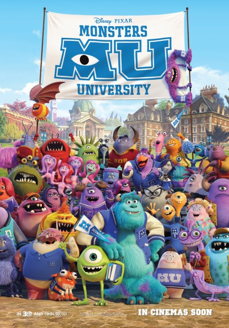 Monsters University UK Poster 455x650 New UK Poster for Monsters University shows all the Gang