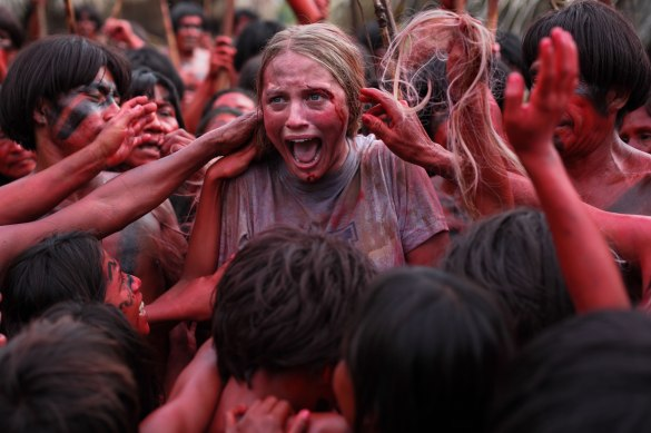 The Green Inferno 585x389 Blood Soaked First Image & Synopsis for Eli Roth's The Green Inferno