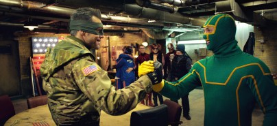 Jim Carrey and Aaron Taylor-Johnson in Kick-Ass 2 -
