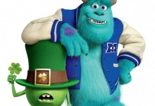 Monsters University Poster St. Patricks Day e1363376849751 220x150 Mike Wazowski sports the Shamrock in New St. Patrick's Day Poster for Monsters University