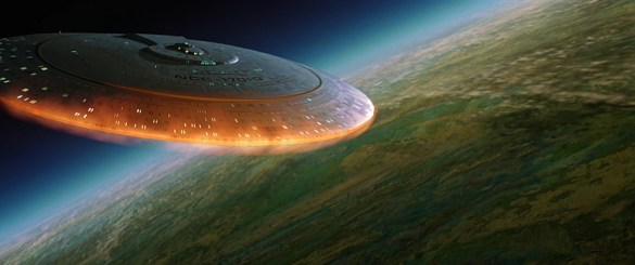 Enterprise D crashing Six of the Best Star Trek Movie Moments