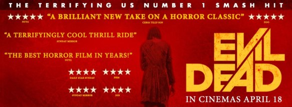 Top 10 Horor Movies of 2013 Evil Dead Banner 585x215 Top 10 Horror Movies to Watch in 2013