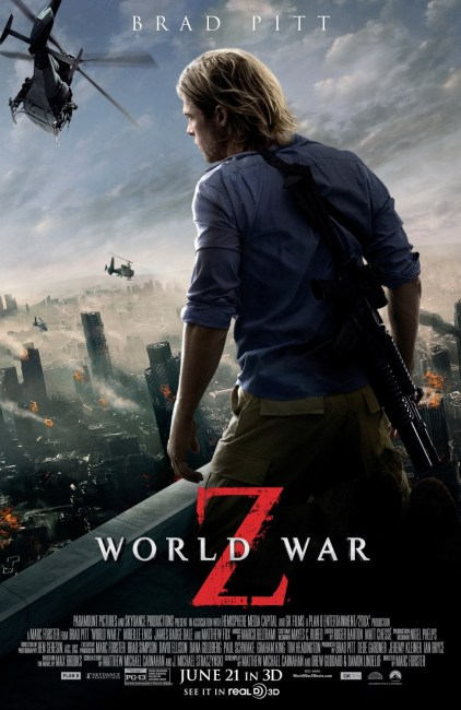 World War Z Poster 422x650 Brad Pitt Overlooks a Burning City in New Poster for World War Z