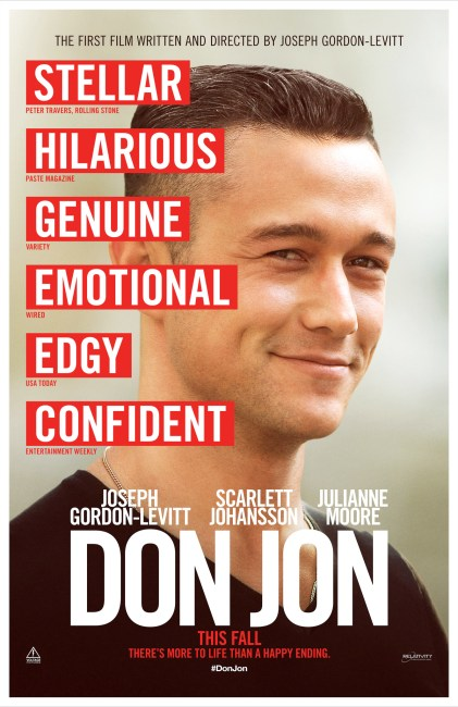 Don Jon Poster 421x650 First Poster for Joseph Gordon Levitt's Don Jon