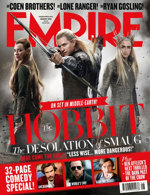 Legolas, Tauriel & Thranduil grace the Cover of Empire for The Hobbit: The Desolation of Smaug