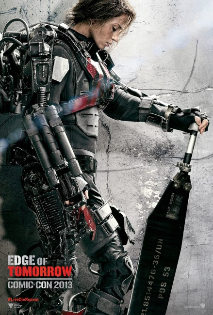 Edge of Tomorrow Comic Con Poster Emily Blunt 439x650 Comic Con: Emily Blunt is a Future Warrior in New Poster for Edge of Tomorrow with Tom Cruise