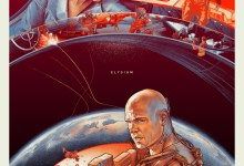 Elysium Comic Con Poster 220x150 Comic Con: Matt Damon and Jodie Foster are Worlds Apart in Mondo Posters for Elysium