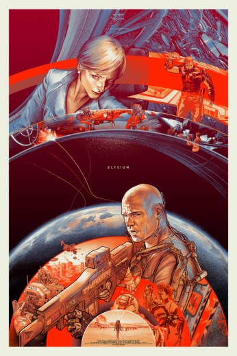 Comic Con: Matt Damon and Jodie Foster are Worlds Apart in Mondo Posters for Elysium