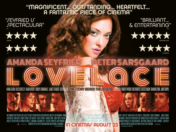 2 New Posters for Lovelace with Amanda Seyfried & Peter Sarsgaard