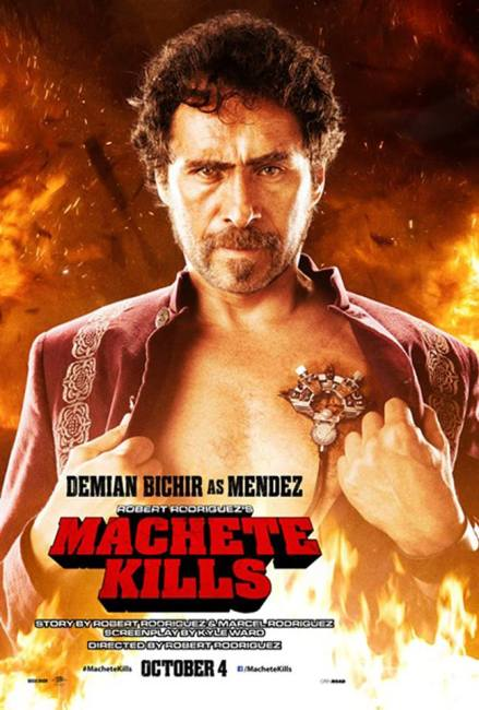 Machete Kills Character Poster Demian Bichir 439x650 Michelle Rodriguez's 30 Seconds of Mayhem in New Comic Con Preview for Machete Kills