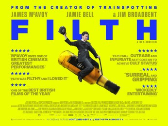 New Alternate Quad Posters for Filth with James McAvoy and Jamie Bell