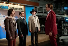 Paul Rudd Steve Carell David Koechner and Will Ferrell in Anchorman 2 The Legend Continues 220x150 New Images of Ron Burgundy and Co. in Anchorman 2: The Legend Continues