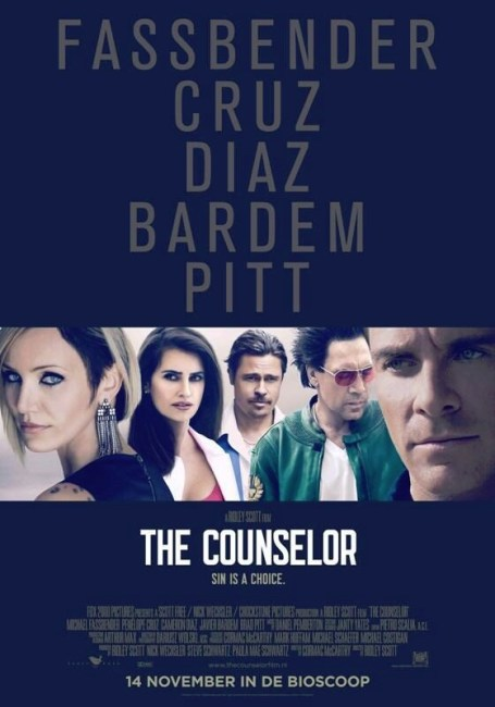 New International Poster & 5 Character Posters for Ridley Scott's The Counselor