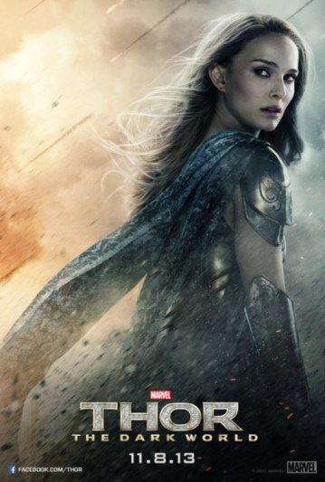 Natalie Portman and Jaimie Alexander grace New Character Posters for Thor: The Dark World