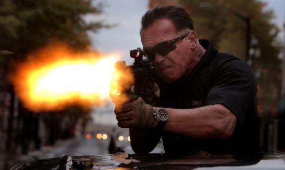 Arnold Schwarzenegger in Sabotage 585x350 NSFW First Trailer for David Ayer's Sabotage with Arnold Schwarzenegger
