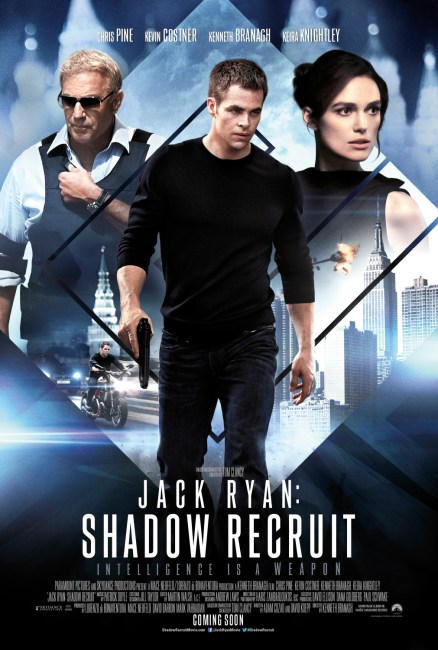 Jack Ryan Shadow Recruit UK Poster 438x650 New International One Sheet for Jack Ryan: Shadow Recruit