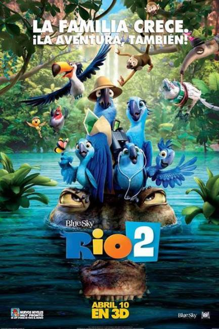 Rio 2 International Poster 433x650 Arriving in the Amazon – New International Poster for Rio 2