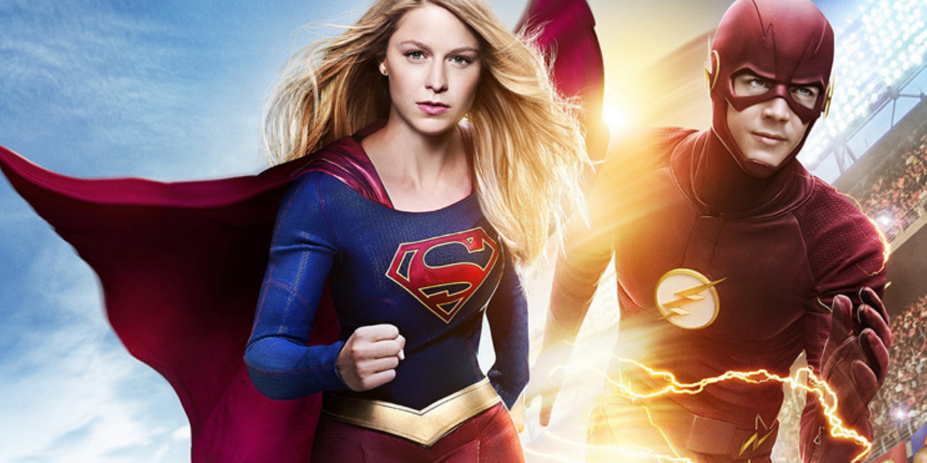 The first look at the 'Supergirl'/'Flash' crossover is vintage awesome