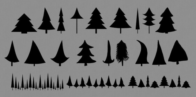 Free download ~ holiday tree Photoshop custom shapes