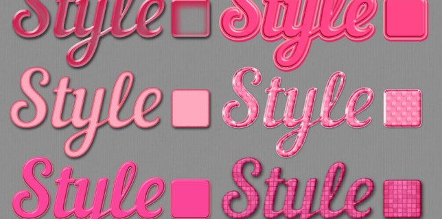 Free download ~ pink photoshop layer styles ~ courtesy of hgdesigns.co