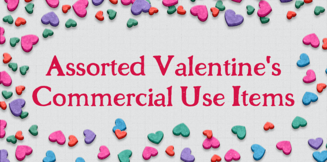Free download ~ assorted commercial use Valentine's Day items ~ courtesy of www.hgdesigns.co