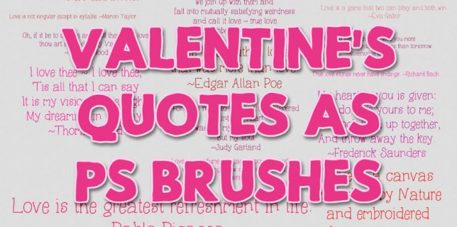 Free download ~ Valentine quote photoshop brushes ~ courtesy of www.hgdesigns.co